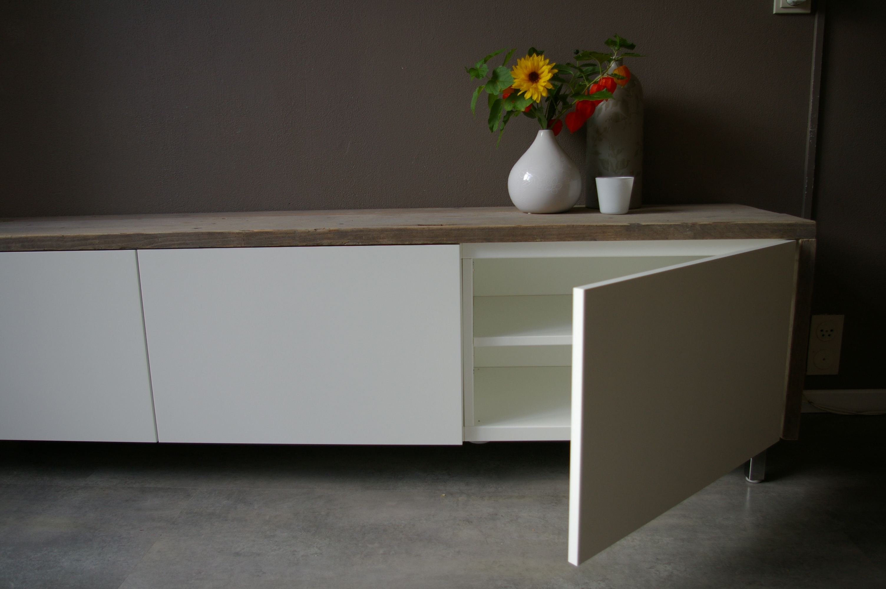 Tv kast tv dressoir klaas u2013 wortelwoods