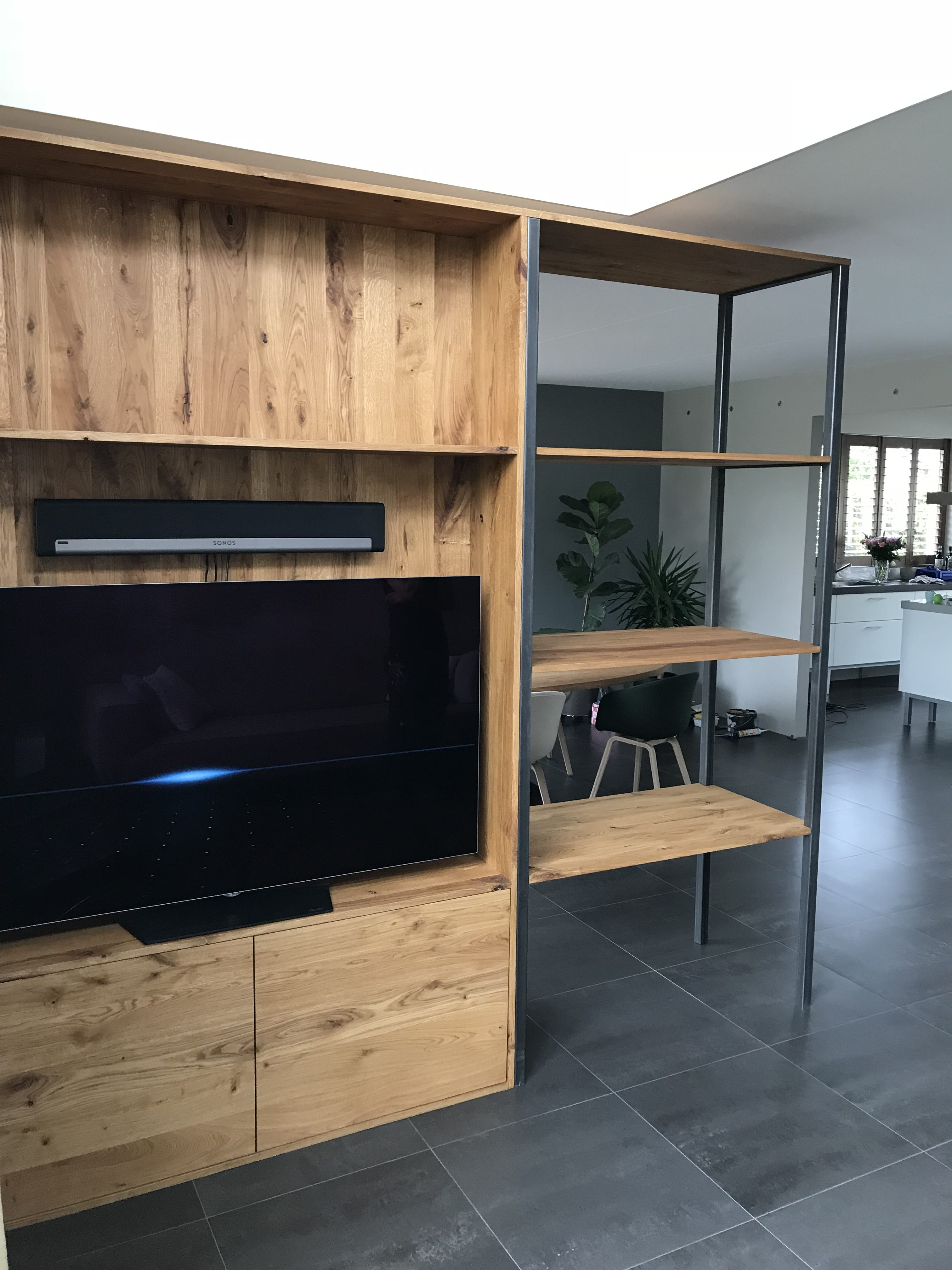 Tv Meubel En Kast.Maatwerk Tv Kast Tv Meubel Tv Wand Roomdivider Wortelwoods